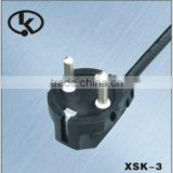 Korean KC approved power cord type with right angle plug