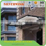 DIY Aluminum frame canopy material rain protection for single door awning canopy