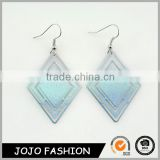 Magnetic elegant simple design blue or silver plated earring alloy women earrings                                                                                                         Supplier's Choice