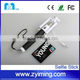 Zyiming factory wholesale folding selfie stick YM-Z07-6S selfie stick extendable baton for smart phone
