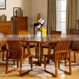 hot sale square Antique Dining Table Of Solid Wood in cherry color