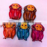 Stock animal shaped leather coin purse