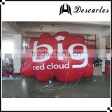 """Big red cloud"" helium balloon, inflatable party floating cloud balloon for decoration"