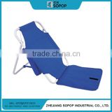 Outdoor Portable Stadium Seat With Backrest, Folding Metal Beach Cushion Chair