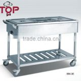 stainless steel economical Pans Bain Marie Trolly
