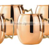MOSCOW MULE MUGS for GINGER BEER Russian Standards HAMMERED COPPER MULE MUGS from India