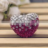 Wholesale fancy heart necklace pendant ,rose color rhinestone necklace charm for fashion jewelry