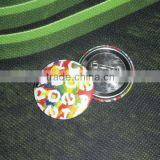 Free sample existing mold 55mm round tin safe pin button badge