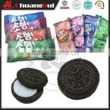 10g 4 Flavour Black Sandwich Cookies in Bag, Biscuits With Filling