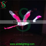 3D animal motif light lighted acrylic pink flamingo led statue garden outdoor decoration light