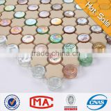 2LL Iridescent white and blue color glass mosaic tiles mixed art ceramic mosaic wall decoration vitreous mosaic tiles