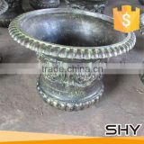 hot sale high quality low price beautiful garden decorative ornament antique cast iron flowerpot
