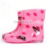 Cartoon rainboots for kids, cute pvc rain shoes, water proof shoes, hot sale water proof boots