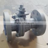 API DIN JIS Flanged Floating WCB cast steel cs ball valve