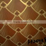 Melamine paper plywood Matt or Glossy face Finished Polyster Plywood solid colour/floral designs