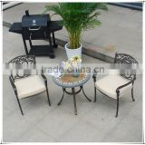 Traditions 3-Piece Deep-Cushioned Outdoor Bistro Set Includes 2 Deep Cushioned Seats and Round Table