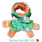 MOQ 10PCS SGS Checked 100% Polyester Minky Knitted Scarf For Baby Boy 6 Styles Available