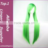Cosplay Wig Anime Wig Green Long Straight Hair Wigs Ancient Costume One Meter Straight Hair With Bangs Cosplay Synthetic Hair