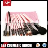 Wholesale Travel Makeup Brush Set with Wooden Handle