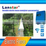 High voltage battery powered electric shock anti-climb alarm electric fence