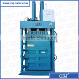 CE,ISO9001 high efficiency more than 20 years factory supply vertical clothes recycling baling machine