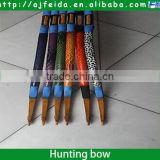 FD-16506 uniform spine bamboo arrow with turkey feather for recurve bow and traditional bow shooting arrow china wholesale