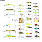 40pcs/lot Fishing Lures 40 Colors Minnow Lure Crank Lures Mix Fishing Bait 40pcs Fishing Lure Simulated Bait Minnow with Hook