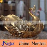 Wedding decoration tableware gold resin swan dry fruit tray NTRS-TD011A