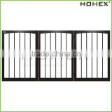 MDF Pet Gate Dog Fence in Black Color Homex_BSCI Factory