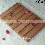 promotional good quality eco-friendly wooden bath mat
