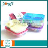 Wholesale Clear 3 Compartments Takewavy Sushi Packaging Box with Lid Multipurpose Plastic Food Storage Box