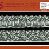 Elegant tricot embroidered brocade lace fabric wedding trim