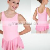 2014new girls practice skirt pink---practice skirted leotard - kids practice dance costume -children and adults