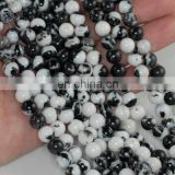 Black & white zebra 6mm round beads Wholesale round beads Beautiful gemstone beads