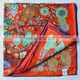 53cm square wholesale china factory silk printed scarf