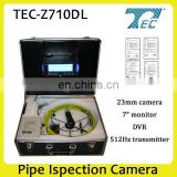 23mm 50m Cable Waterproof Pipe Inspection Drain Video Camera, Underwater Camera TEC-Z710DL