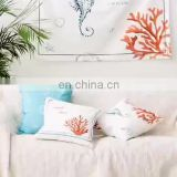 RAWHOUSE knitted cotton white solid color 50*50 pillow cover use for cushion cover on sofa