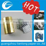 2015 hot sale Printed Alu Foil Roll Cold Forming Aluminum Foil for Pharmaceutical Blister Packing