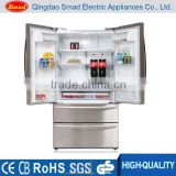 French Door Silver Auto Defrost Refrigerator Freezer