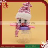 Cute Mini Snowman Candy Box Christmas New Year Party Decoration Transparent Gift Candy Box Bottle