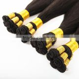 double drawn virgin Russian remy hair hand tied hair weft
