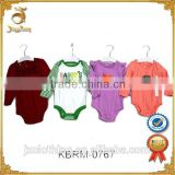 Wholesale Baby Clothing Closeout Baby Bodysuit with Long Sleeve 100% organic cotton