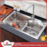 European style one piece kitchen sink and countertop triangle kitchen sink overflow