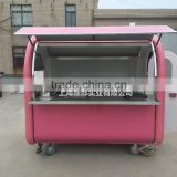 SILANG SL-1 food cart 7.6*5.5ft Pink mobile food trucks hamburger hot dog barbecue fried pizza food cart