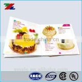 Beautiful Custom Printed Folded Cake Menu Paper cards / Folded Cake Menu Booklet Colorful Custom Printed