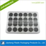 24 color plastic cosmetic eyeshadow packaging tray