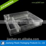 PP clear 3 compartments small Medical Plastic Tray For Injection ,Syringe ,Infusion Tube And Medicine And Medical Supplies.