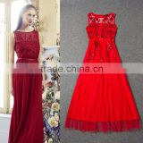 2014 Designer newest fashion sequin lace sexy long evening dress for party wholesale S27042