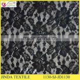 Factory Price High Quality Net Sparking Black Lace Fabric For Lady Dress