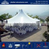 Low MOQ aluminum alloy frame pvc canopy 10x10 bleacher tent / push up pole tent in guangzhou